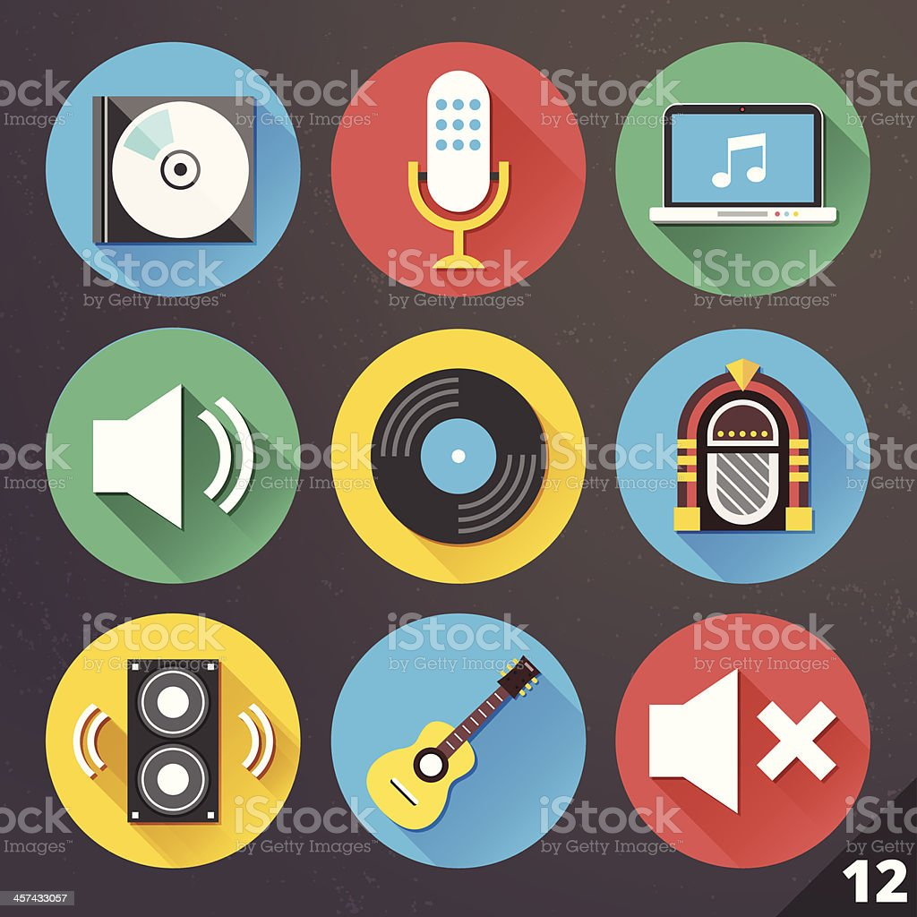 Vector Icons for Web and Mobile Applications. Set 12.