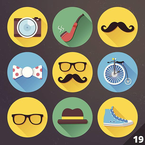 ilustrações, clipart, desenhos animados e ícones de vetor ícones de web e aplicativos móveis.  definir 19. - moda urbana