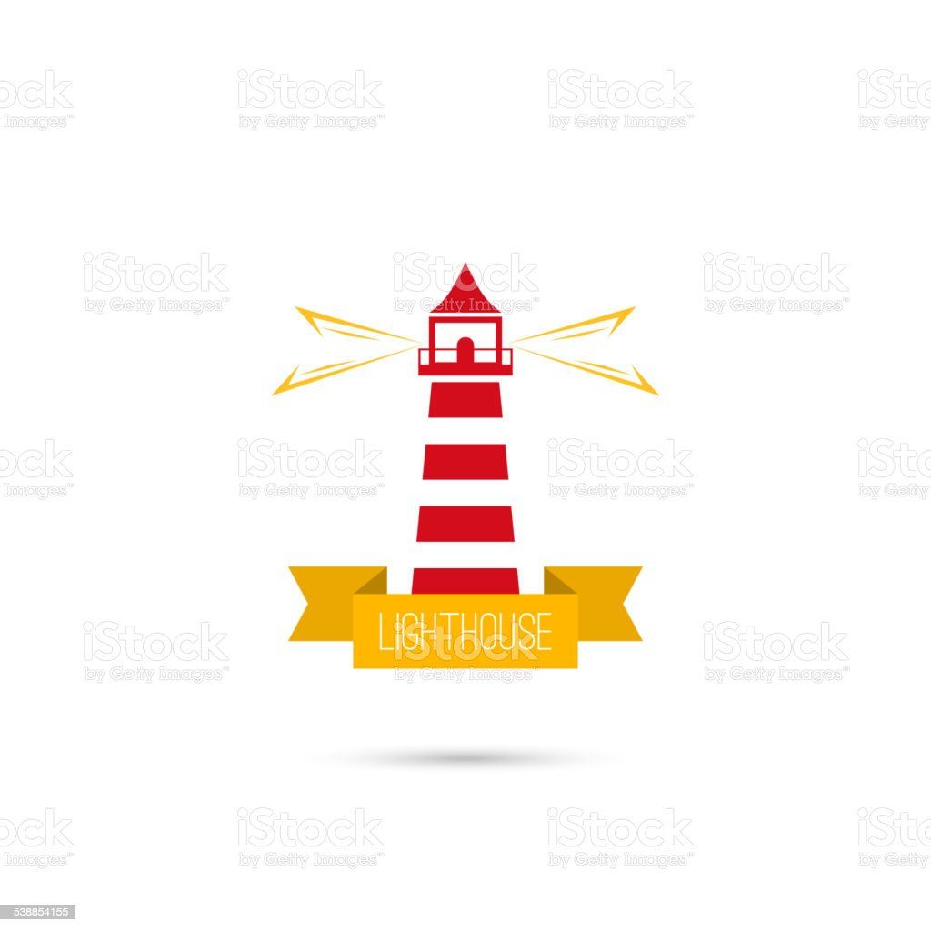 Vector icons lighthouse vector art illustration