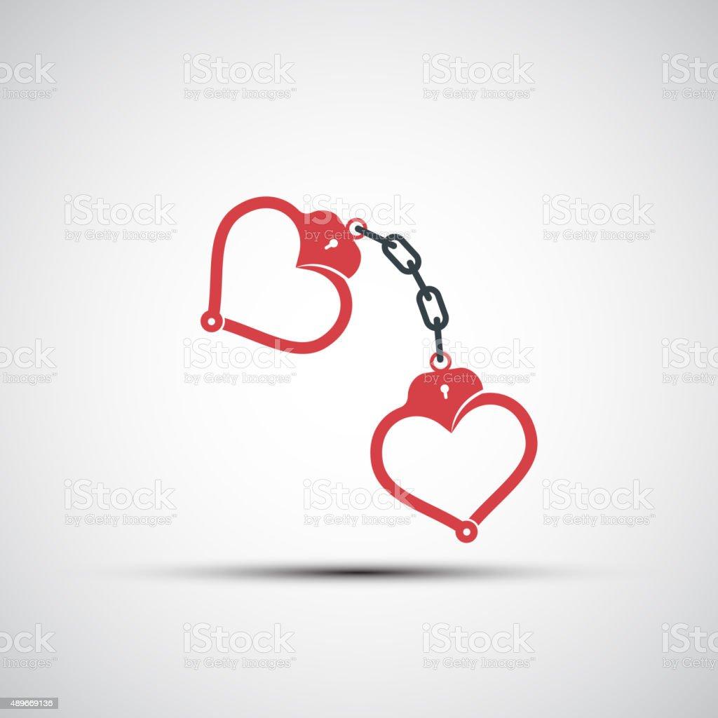 Vetor ícones de Algema em forma de coração - ilustração de arte em vetor