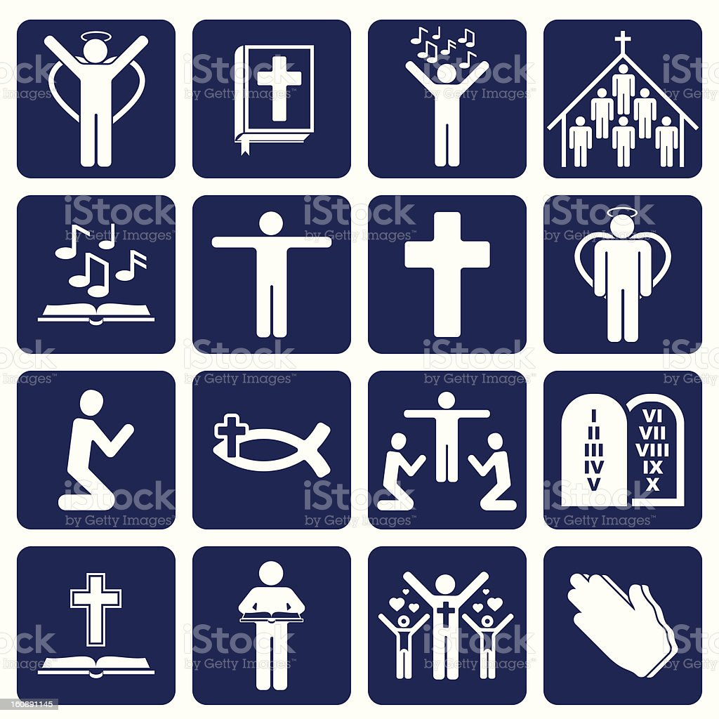 vector icons of religious royalty-free stock vector art