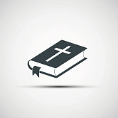 Vector icons of the Bible