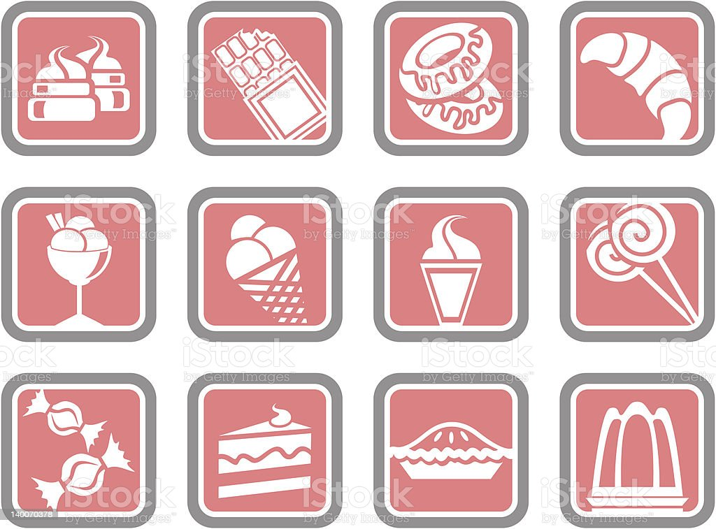 Vector Icons: Pastry royalty-free vector icons pastry stock vector art & more images of bakery