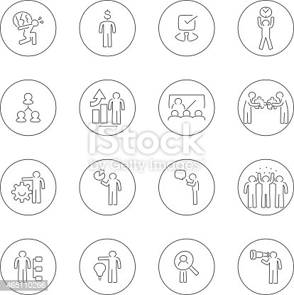 Vector file of businessman concept icon