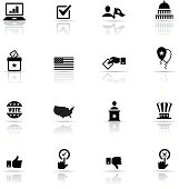 Vector icons relating to politics