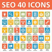 40 SEO vector icons - Search Engine Optimization