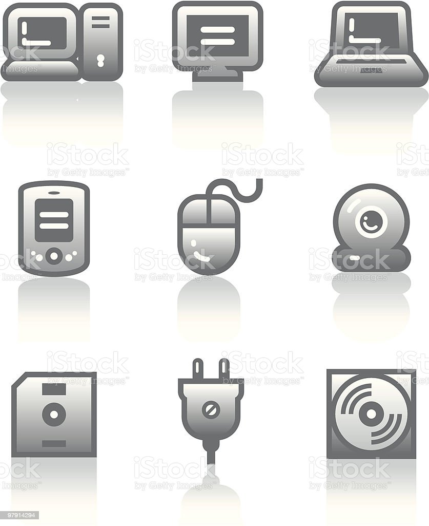 Vector icons set – Hardware royalty-free vector icons set hardware stock vector art & more images of black color