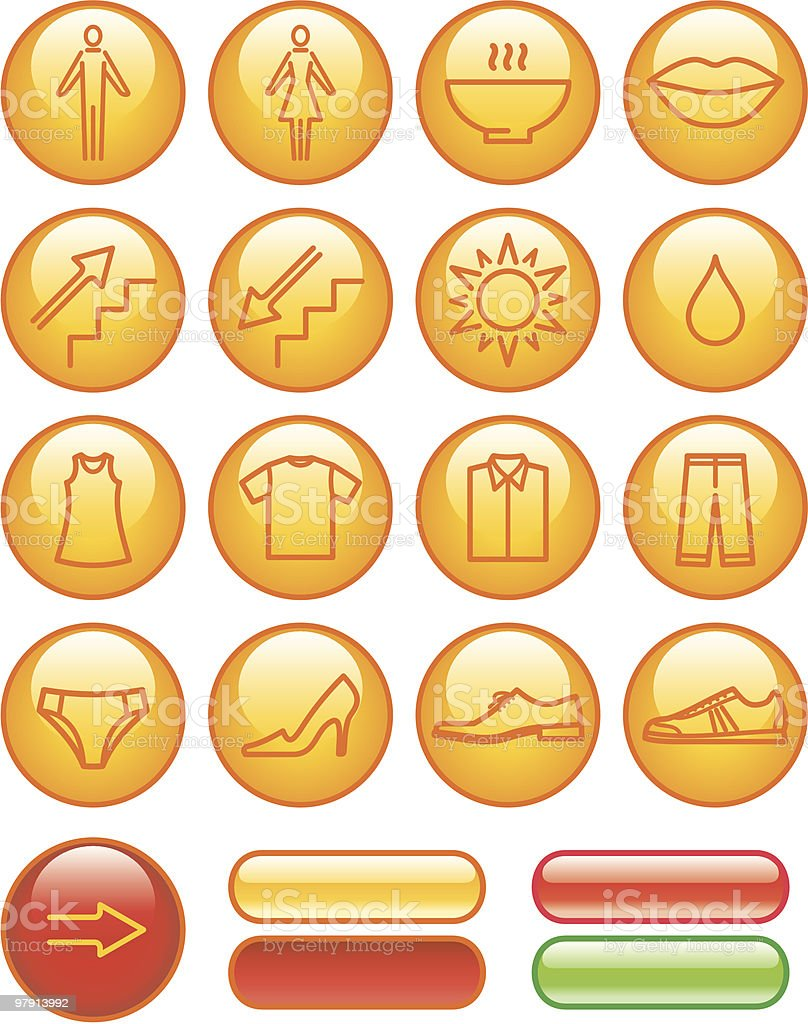 Vector Icons Set - Shopping Center royalty-free vector icons set shopping center stock vector art & more images of adult