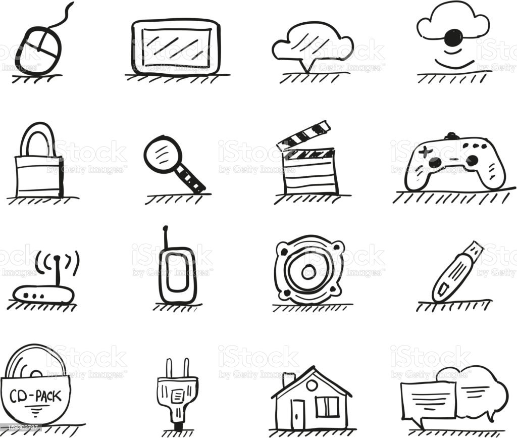 Vector icons set royalty-free stock vector art