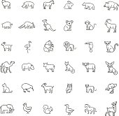 vector icons. Zoo. Animals