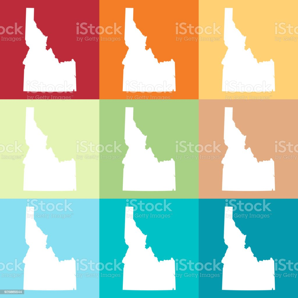 vector idaho usa map in beachy colors stock vector art more images rh istockphoto com