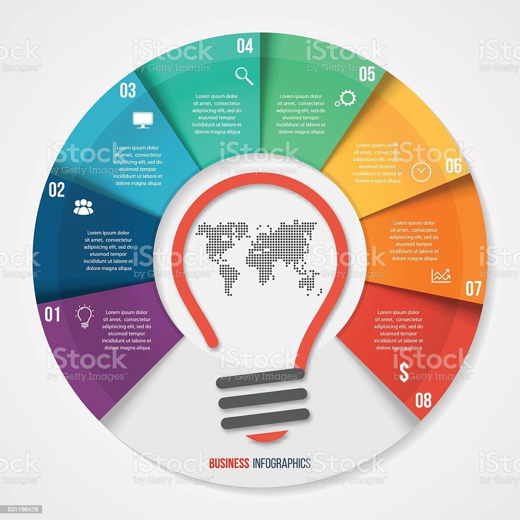 Ilustración de Idea Del Vector Diagrama Circular Infografía ...