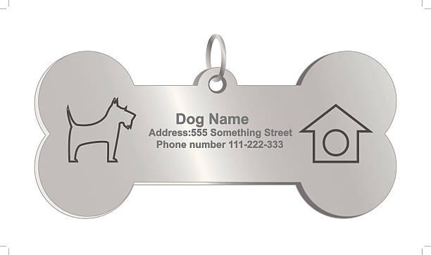 vektor identität tags für hunde - hundehalsbänder stock-grafiken, -clipart, -cartoons und -symbole