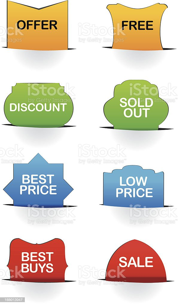 Vector illustrate sale labels royalty-free stock vector art