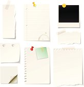 Vector blank notes and papers. EPS8 file.