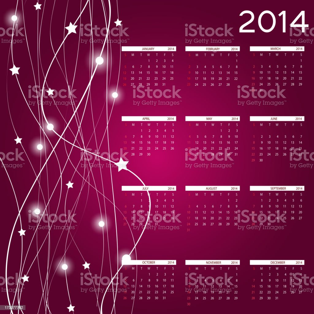 vector illustration. 2014 new year calendar royalty-free vector illustration 2014 new year calendar stock vector art & more images of 2014