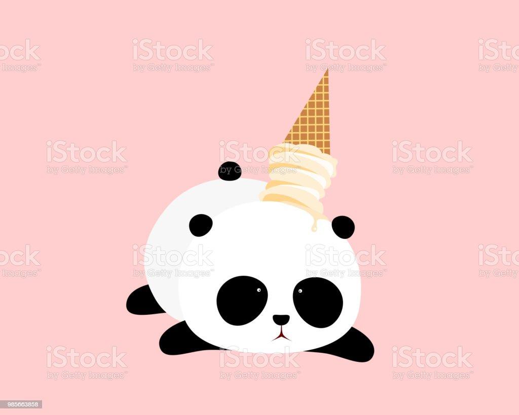 Illustration Vectorielle Un Dessin Animé Mignon Grand Panda