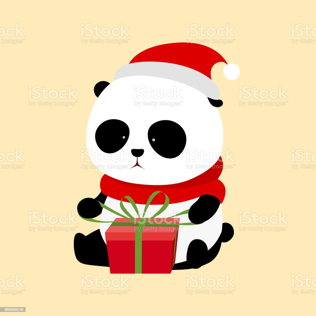 Illustration Vectorielle Un Panda Geant De Dessin Anime Mignon Avec