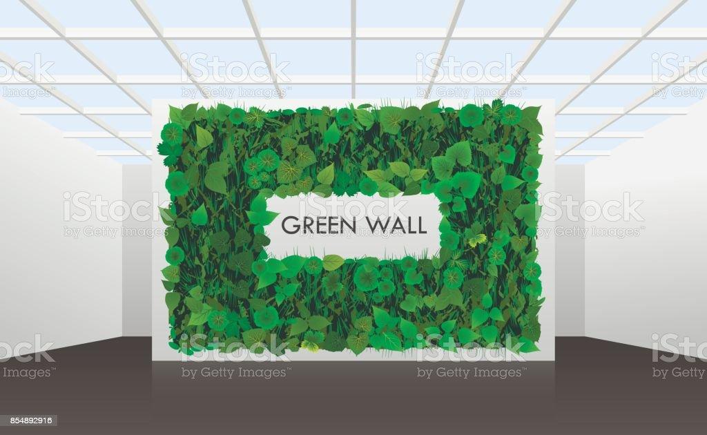 Kantoor En Meer : Vectorillustratie over verticale modelleren van muren in kantoor