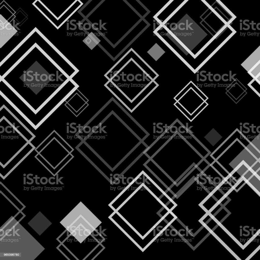 Illustration vectorielle. Abstrait avec losange / Pattern de conception pour la bannière, affiche, flyer, carte, carte postale. Fond noir blanc - clipart vectoriel de Abstrait libre de droits