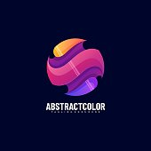 Vector Illustration Abstract Color Gradient Colorful Style.