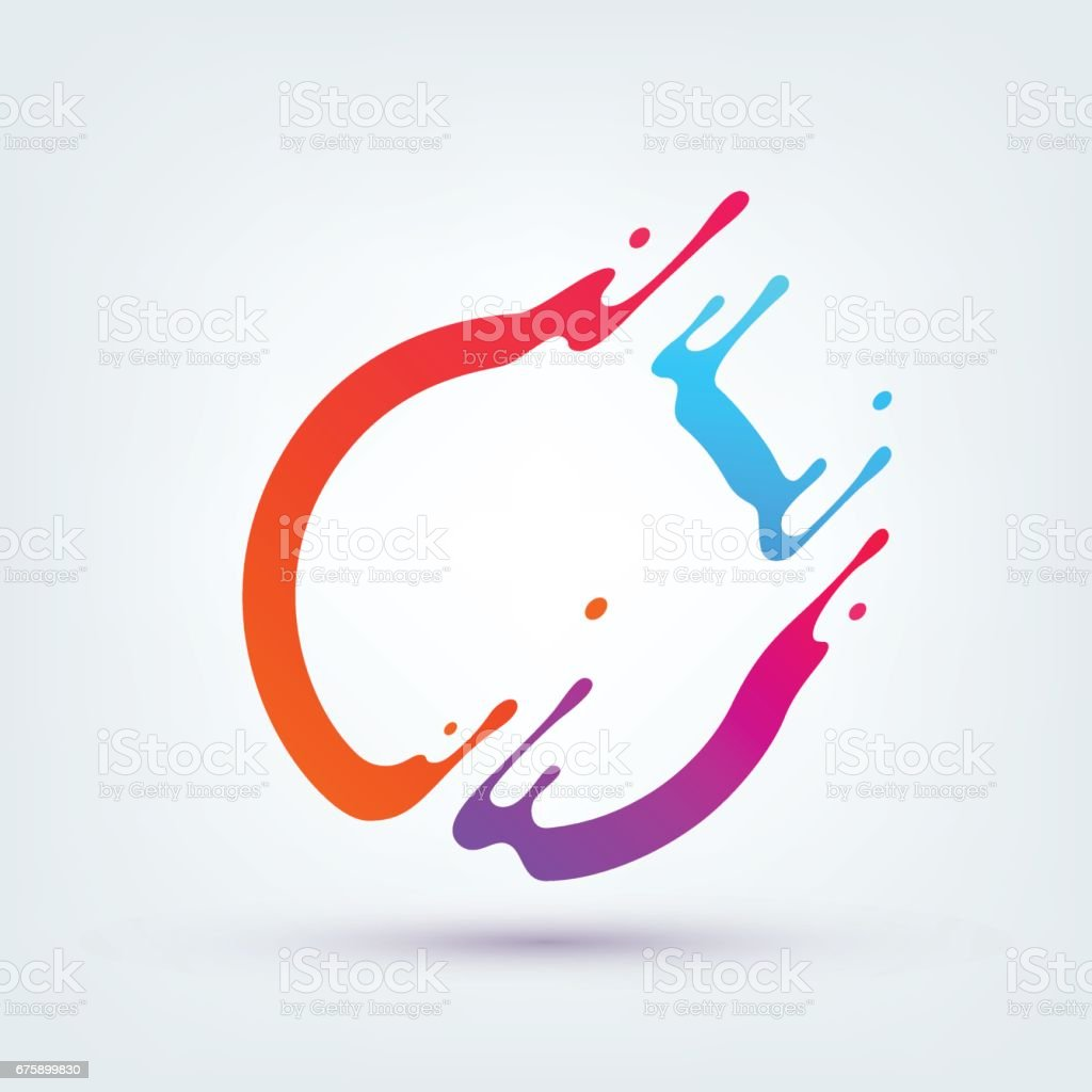 Vector Illustration. Abstract Colorful Circle vector art illustration