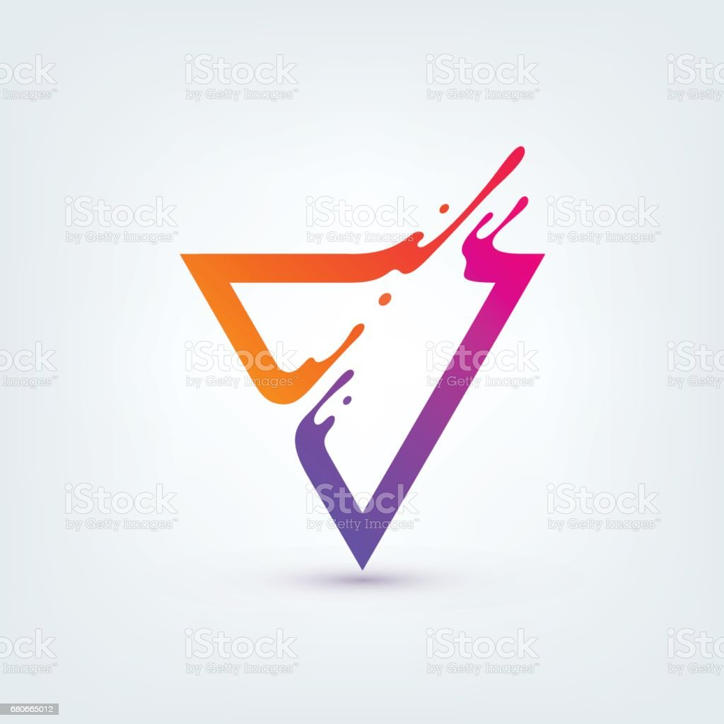 Vector Illustration. Abstract Colorful Triangle vector art illustration