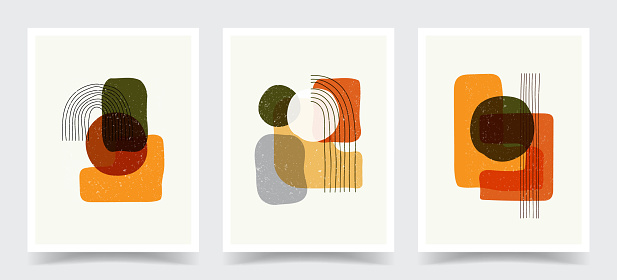 Vector illustration. Abstract contemporary aesthetic backgrounds. Design for cover, poster, postcard, card, flyer, brochure. Shapes and lines. Old vintage concept. Marble pattern. Modern art print.