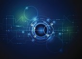 istock Vector illustration Abstract futuristic circuit board 471580916
