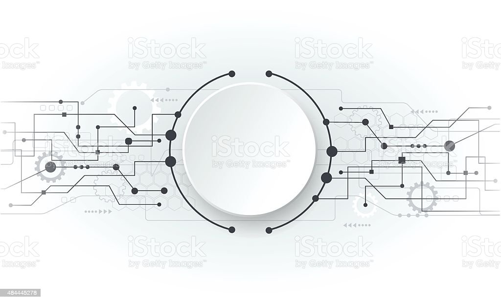 vector illustration abstract futuristic white circuit board stock vector art  u0026 more images of