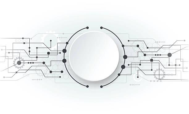 illustration vectorielle abstrait circuit futuriste blanc repasser - Illustration vectorielle