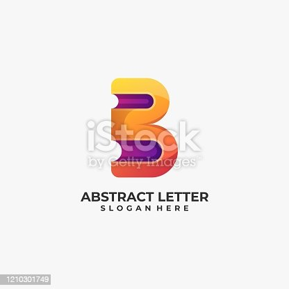 istock Vector Illustration Abstract Letter Gradient Colorful Style. 1210301749