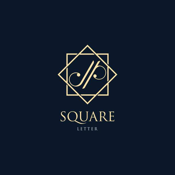 Vector Illustration Abstract Letter J and P With Square Luxury Style. Vector Illustration Abstract Letter J and P With Square Luxury Style. letter j stock illustrations