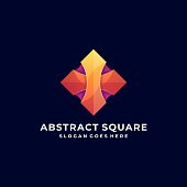 Vector Illustration Abstract Square Colorful Style.