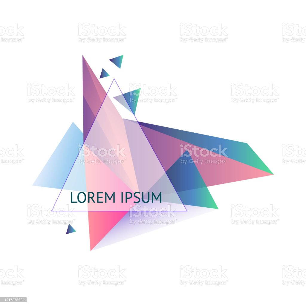 vector illustration abstract triangle frame geometric figures