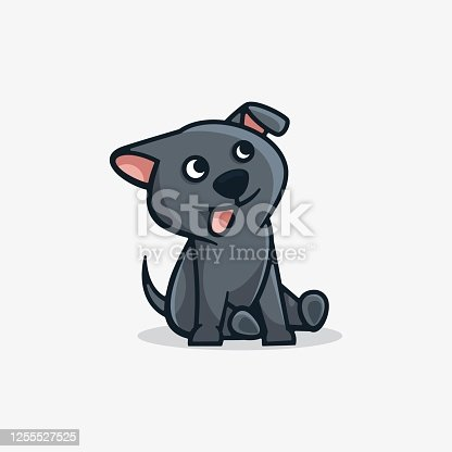 istock Vector Illustration Adorable Simple Mascot Style. 1255527525