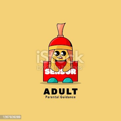 Vector Illustration Adult Simple Mascot Style.