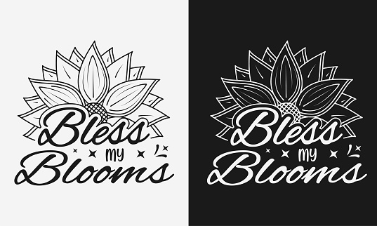 Vector illustration advice lettering with sunflower, hand drawn motivational quotes, typography for t-shirt, poster, sticker and card