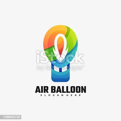 istock Vector Illustration Air Balloon Gradient Colorful Style. 1288550732