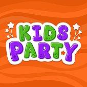Vector illustration alphabet. Cartoon letters. Kids Party.