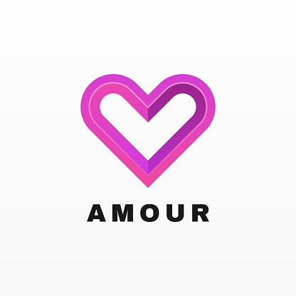 Vector Illustration Amour Gradient Colorful Style.