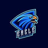 istock Vector Illustration Angry Eagle Sports Style. 1205411494