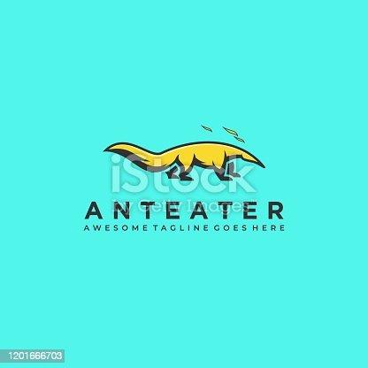 istock Vector Illustration Anteater Mascot Cartoon. 1201666703