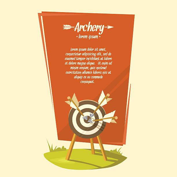 stockillustraties, clipart, cartoons en iconen met vector illustration archery - call center