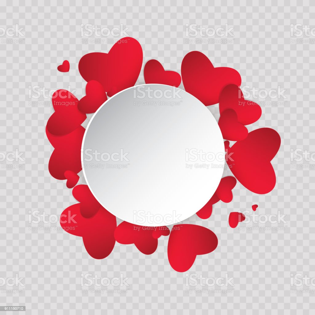 vector illustration ard happy valentines day love heart background