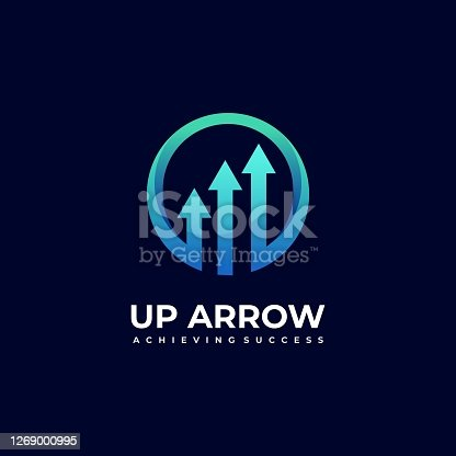 Vector Illustration Arrow Gradient Colorful Style.