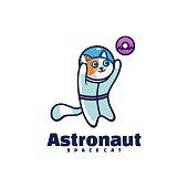 istock Vector Illustration Astronaut Simple Mascot Style. 1270175735