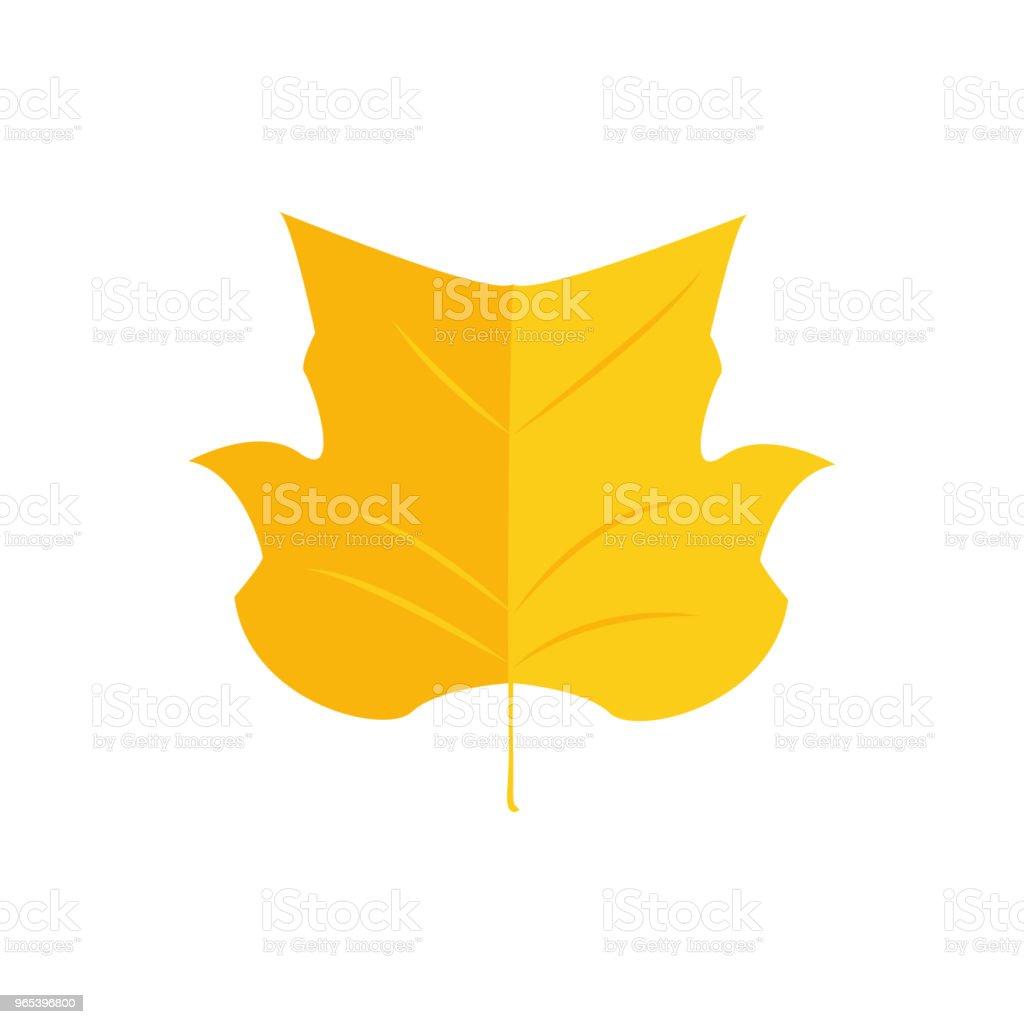 向量插圖。秋天鬱金香楊樹。圖示葉 - 免版稅丁香花圖庫向量圖形