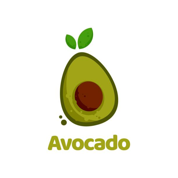 Vector Illustration Avocado Flat Color Style. Vector Illustration Avocado Flat Color Style. avocado designs stock illustrations