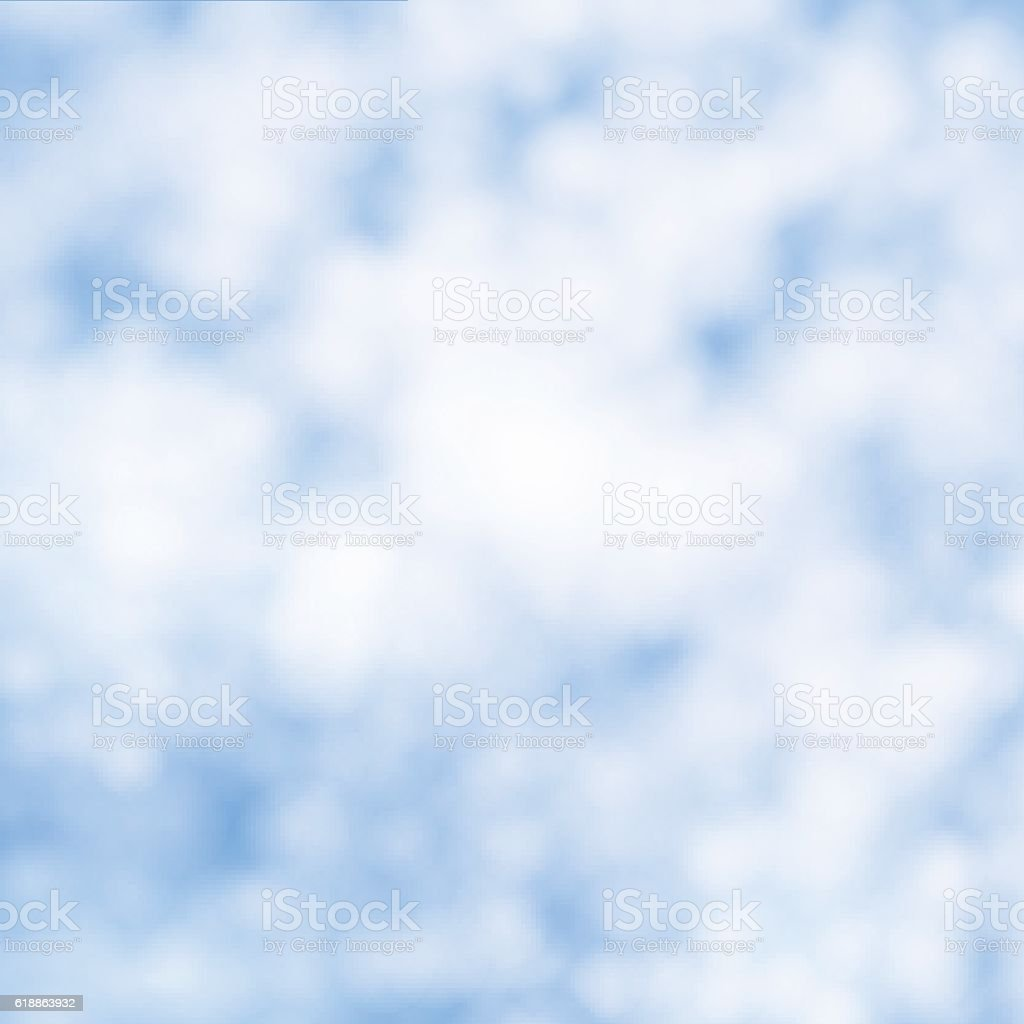 Vector illustration background of white cirrus clouds vector art illustration